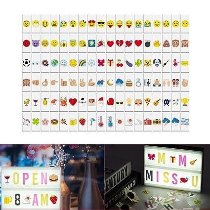 aibecy 108pcs símbolos y Emojis para pintar Lightbox A4 ...