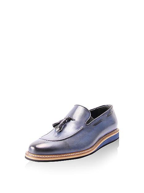 E.Goisto Mocasines Clásicos Azul Oscuro EU 39: Amazon.es: Zapatos y complementos
