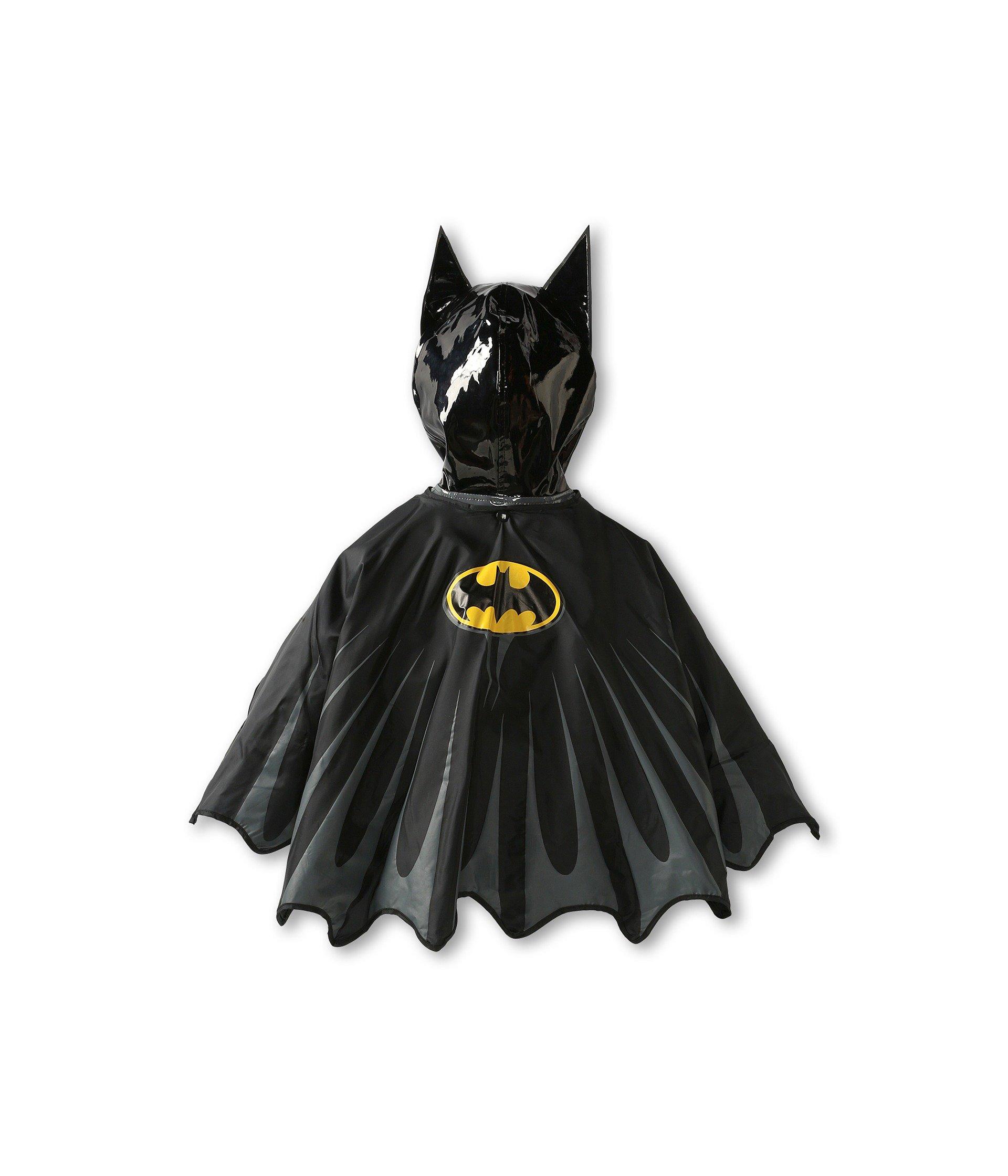 Western Chief Little Boys' Batman Everlasting Rain Coat, Black, 5/6 by Western Chief (Image #3)