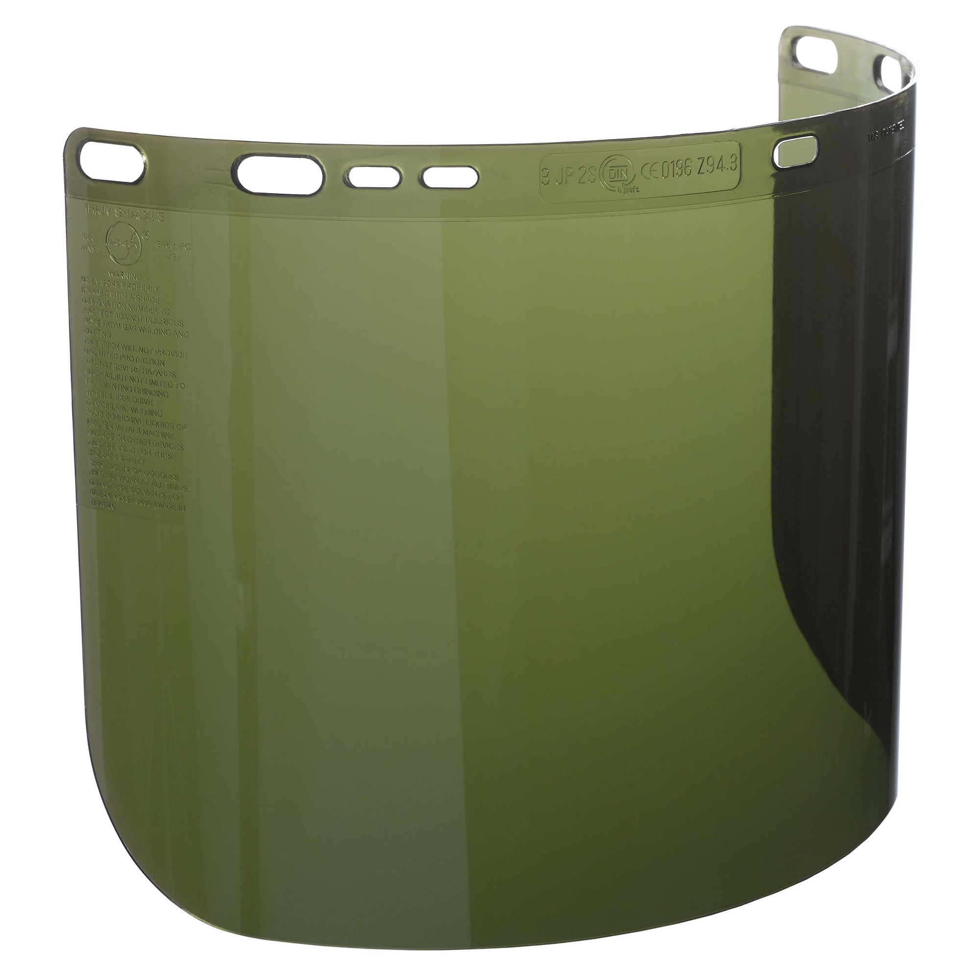 "Jackson Safety F50 Specialty High Impact Face Shield (26262), Polycarbonate, 8"" x 15.5"" x 0.06"", IRUV 3.0, Face Protection, Unbound, 12 Shields / Case"