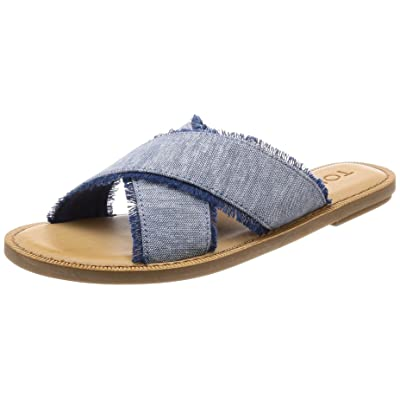 TOMS Womens Viv Open Toe Casual Slide Sandals | Slides