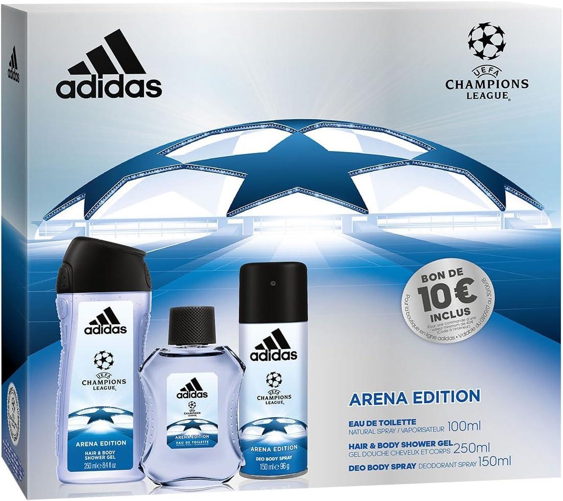Adidas Coffret 3 Produits UEFA 3 Arena Edition Eau de