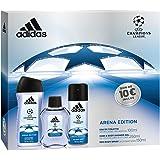 Adidas - Coffret 3 Produits UEFA 3 Arena Edition Eau de Toilette 100 ml + Déodorant 150 ml + Gel Douche 250 ml
