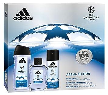 Adidas Coffret 3 Produits Uefa 3 Arena Edition Eau De Toilette 100