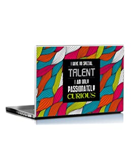 Seven Rays Passionately Curious Laptop Skin Covers Fits for All Models for Screen Size Dimensions - 15 x 10 Inches