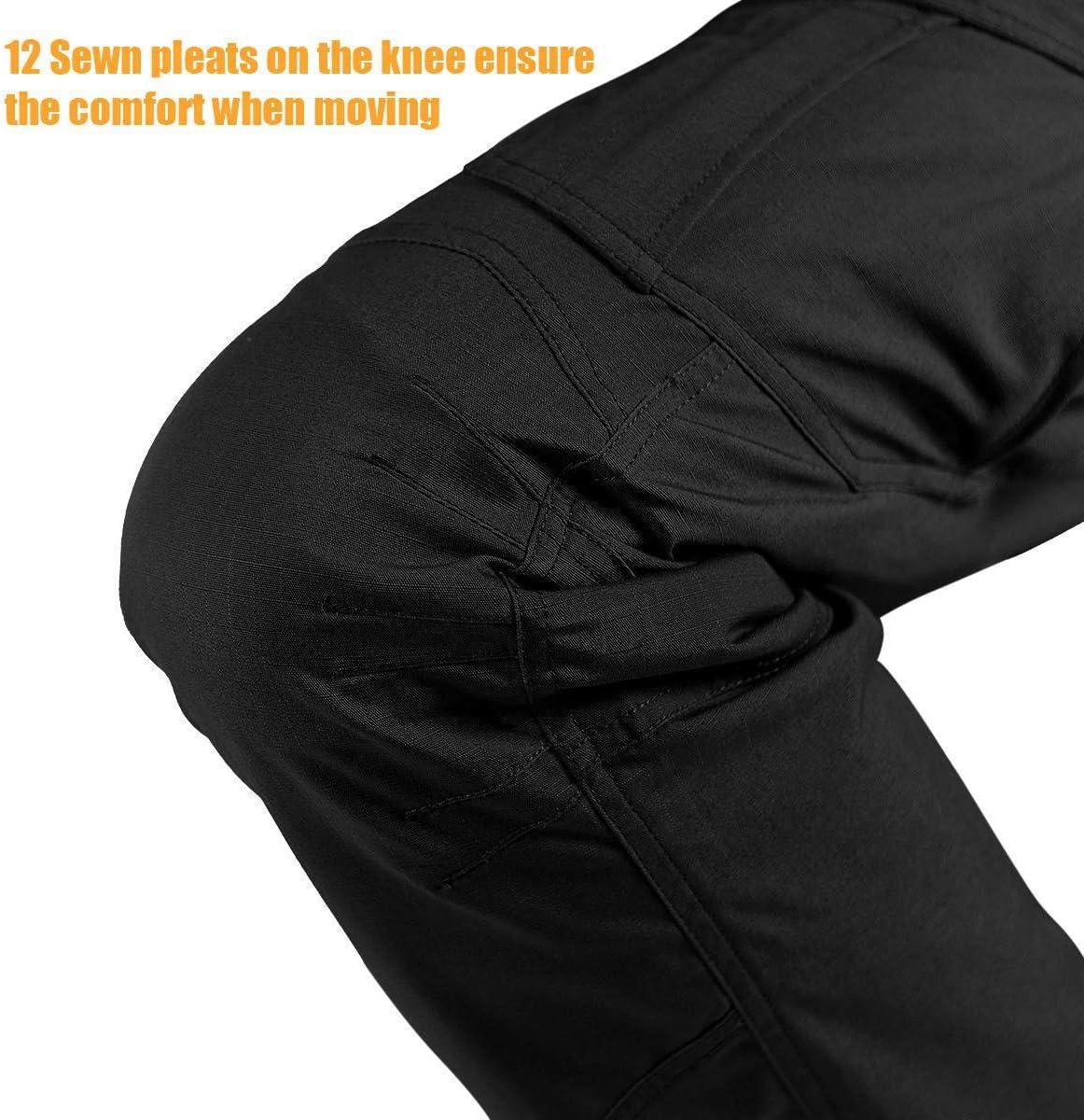 FREE SOLDIER Pantaloni da Lavoro Cargo da Uomo Pantaloni Tattici idrorepellenti per Esterni con Pantaloni Multitasche ad Asciugatura Rapida per la Caccia escursionistica