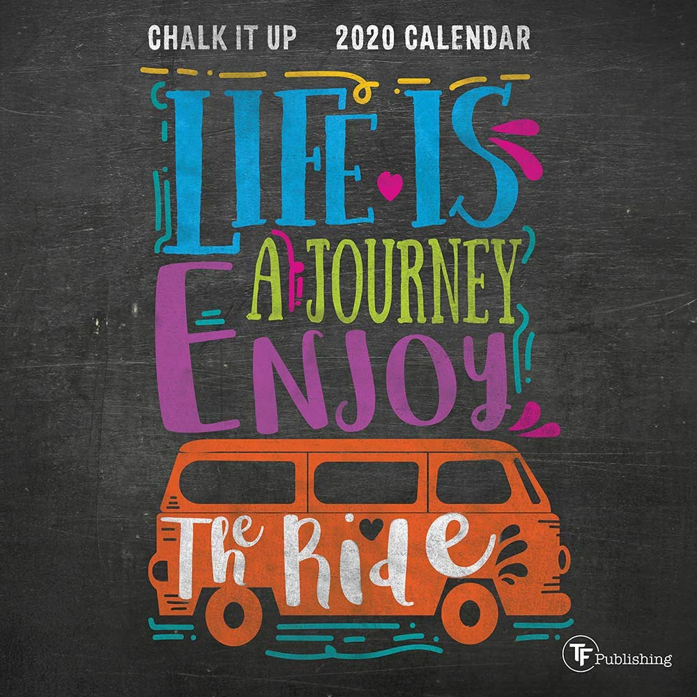 2020 Chalk It Up Mini Calendar
