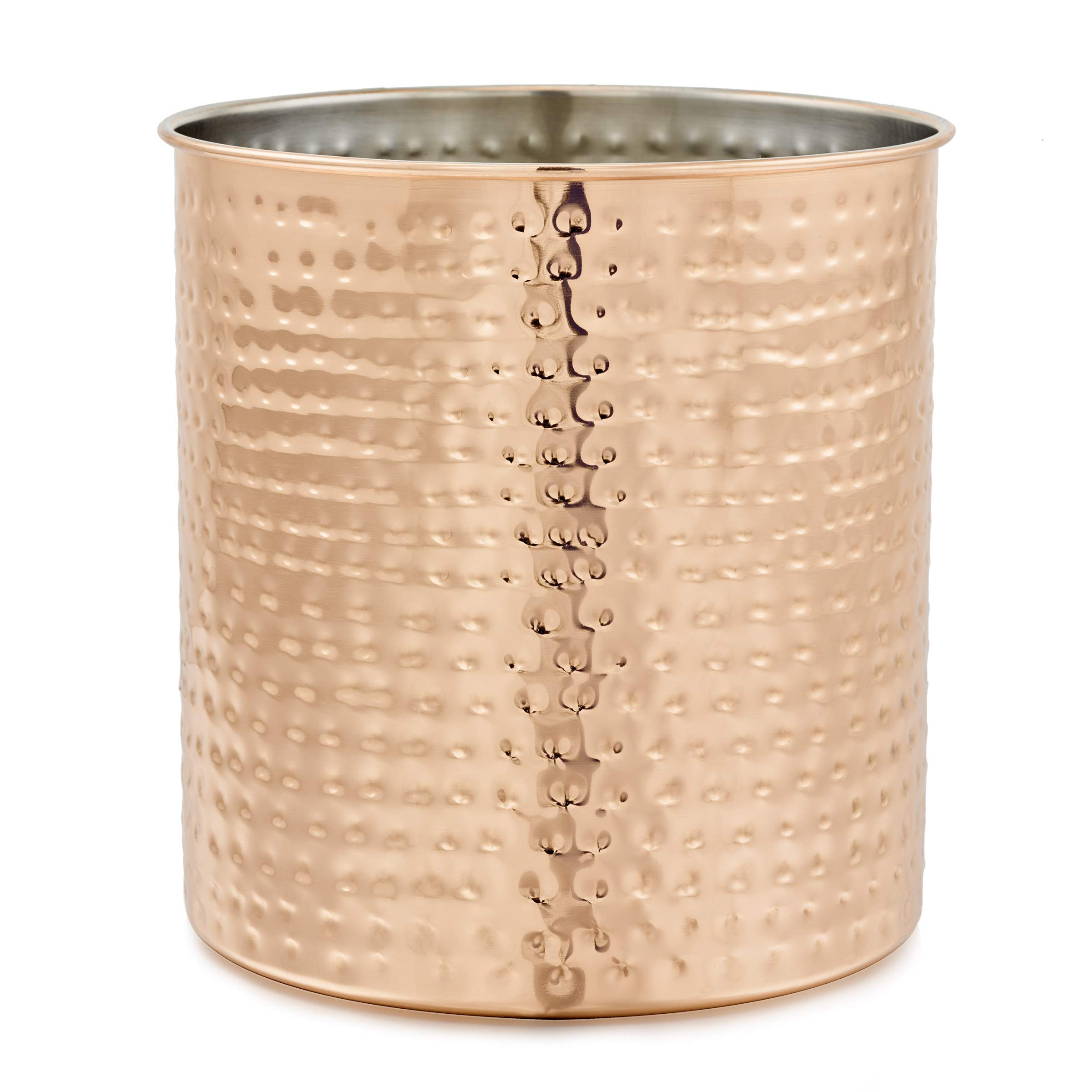 Old Dutch 849JB Jumbo Hammered Copper H x 7'' Dia. Utensil Holder, 7x7x7.5, by Old Dutch
