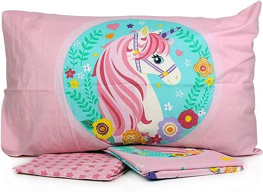 Unicorn - Juego de sábanas para cama individual de 1 plaza, de ...