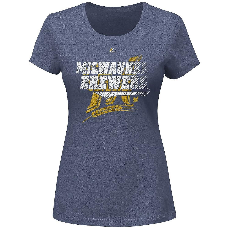 Milwaukee Brewers MLB Majestic Ladies Take That Tee