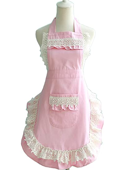 Lovely Lace Work Aprons Home Shop Kitchen Cooking Tools Gifts For Women  Aprons For Christmas Gift