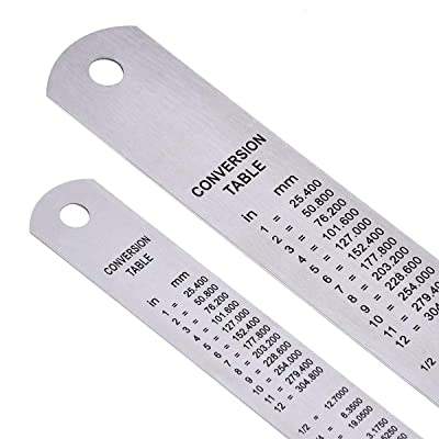 6 Inch metagio 3 Pcs Stainless Steel Ruler Including 12 Inch 8 Inch Metal Measuring and Cutting Ruler Office Ruler Set Metal Rulers Kit for Office Learning Drawing