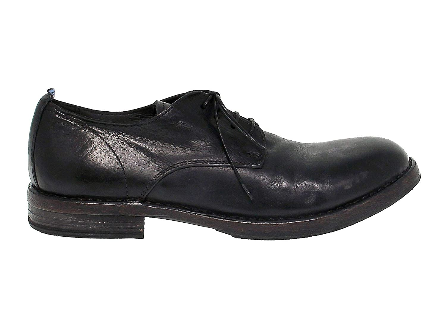 - MOMA Men's 56804 Black Leather Lace-Up shoes