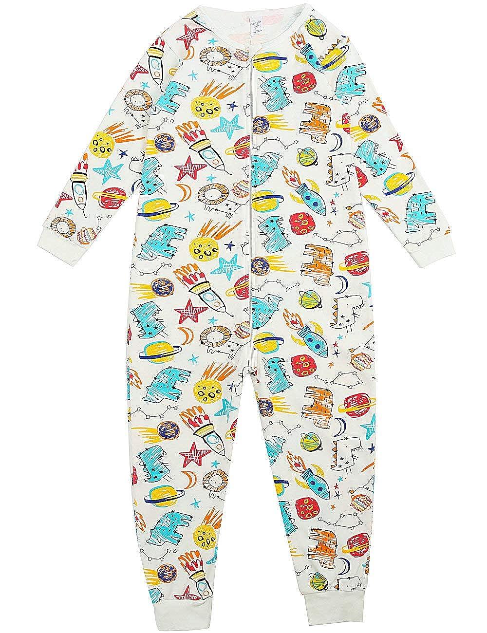 ffef0e540 Amazon.com  Sunnycows Kids Onesie Pajamas Cotton Easy Zip Open One ...