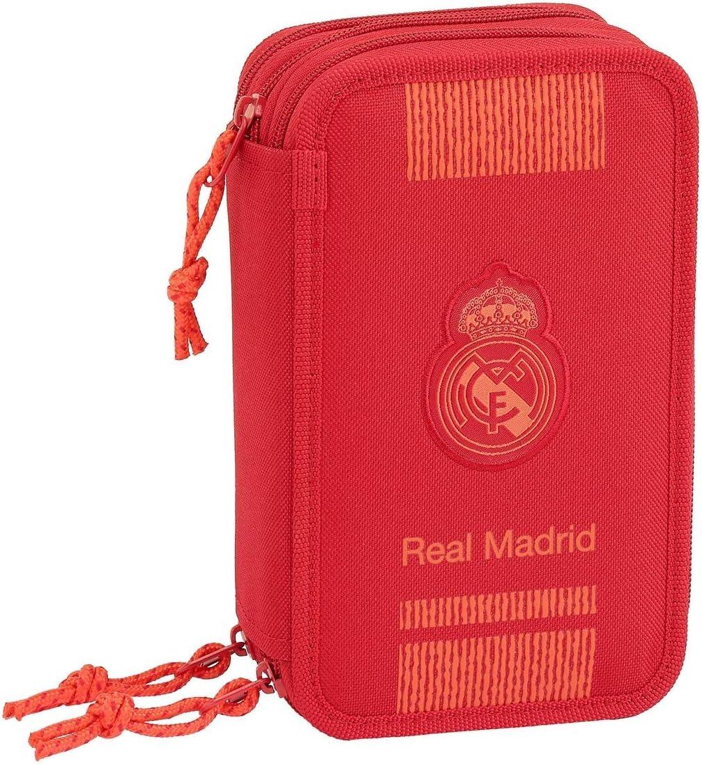 Real Madrid Estuches Unisex Adulto Plumier Triple 41 Piezas Red 3 3 equipacion 18/19 411957-057, Multicolor, Talla única: Amazon.es: Oficina y papelería