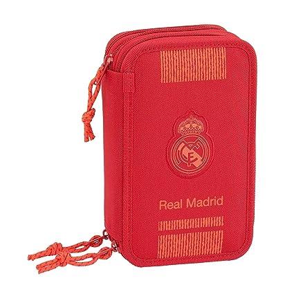 Real Madrid- Estuches Unisex Adulto Plumier Triple 41 Piezas ...