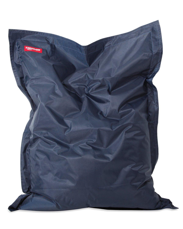Roomox Original Junior Kinder-Sitzsack für drinnen und draußen Stoff 130 x 100 x 30 cm, Dunkelblau