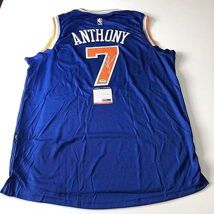 dd4ff796fbdb Carmelo Anthony Autographed Signed Jersey (Size XL) PSA DNA New York Knicks  Autographed