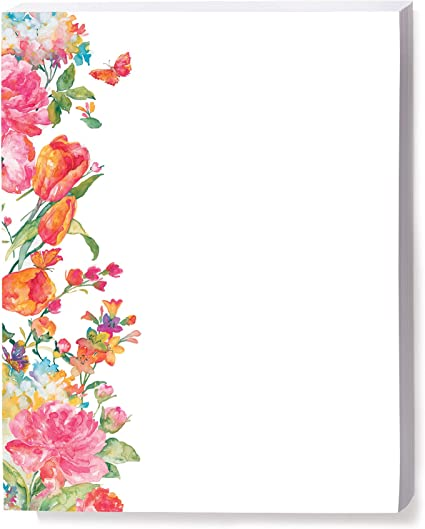 Amazon Com Paperdirect Pretty Petals Border Papers 8 1 2 X 11 Inches 100 Count