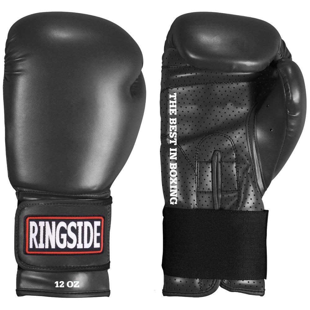 Ringside BG13 BLACKLARGE Extreme Fitness Boxing Gloves Large Black BG13      BLACKLARGE