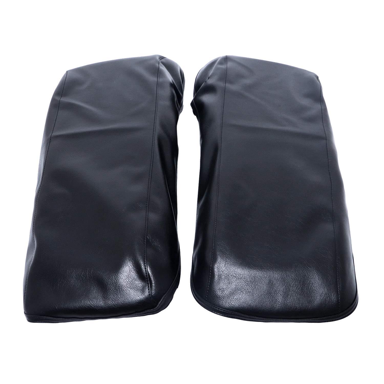 Housse de selle imperm/éable en cuir noir avec couvercles pour sacoches rigides Harley Davidson Touring 2014 2018