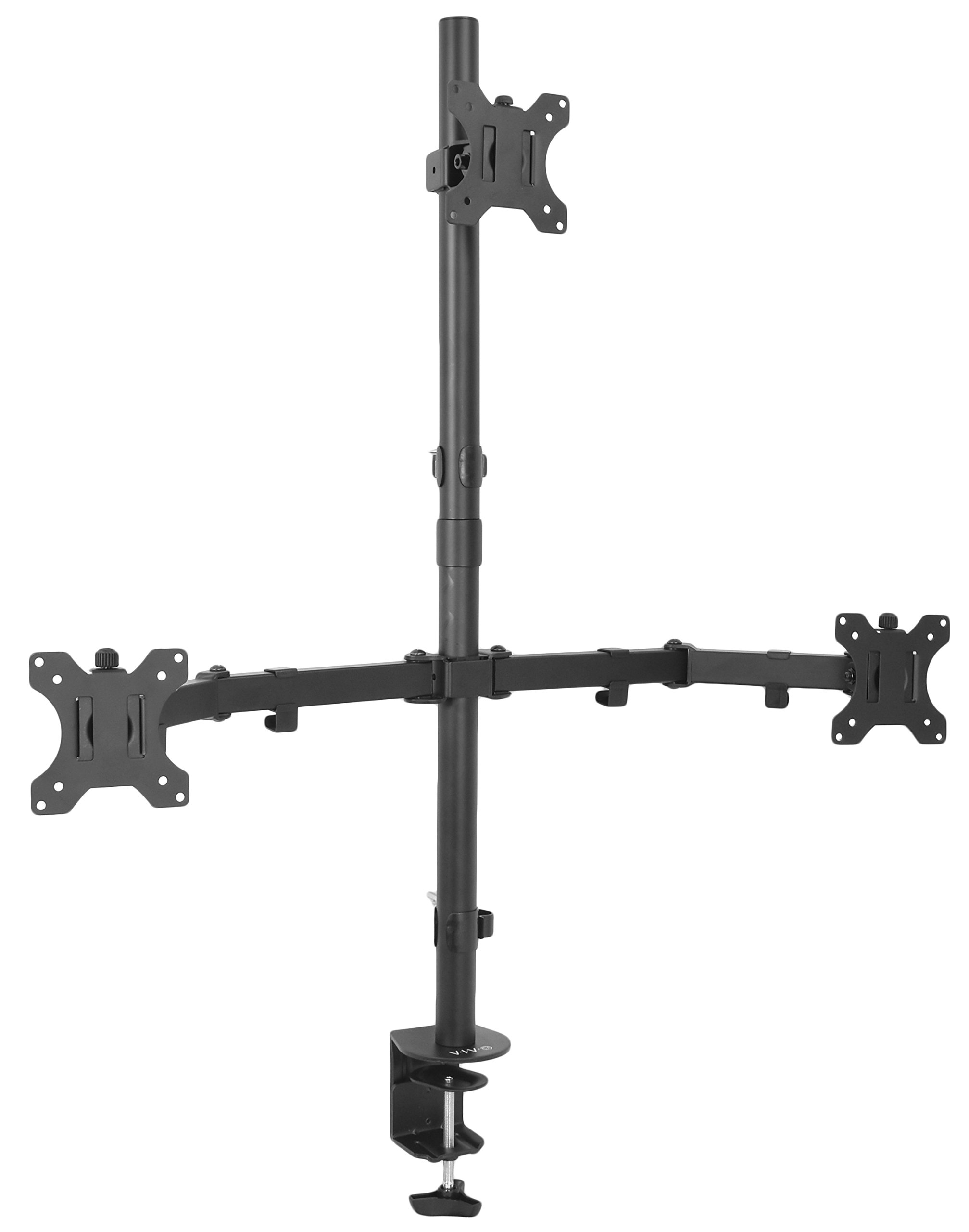 VIVO Triple LCD Monitor Desk Mount Stand Heavy Duty & Fully Adjustable 3 Screens up to 30'' (STAND-V003T)