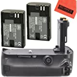 Battery Grip Kit for Canon EOS 5D Mark III, EOS 5DS, EOS 5DS R Digital SLR Camera Includes Qty 2 Replacement LP-E6 Batteries + Vertical Battery Grip