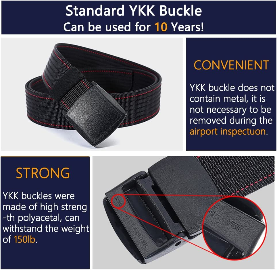 53Long 1.5Wide Red Military Tactical Sport Belt with YKK Plastic Buckle Belt for Men Adjustable for Pants Size Below 46 inches Durable Breathable Waist Belt for Work Outdoor Hiking Skiing
