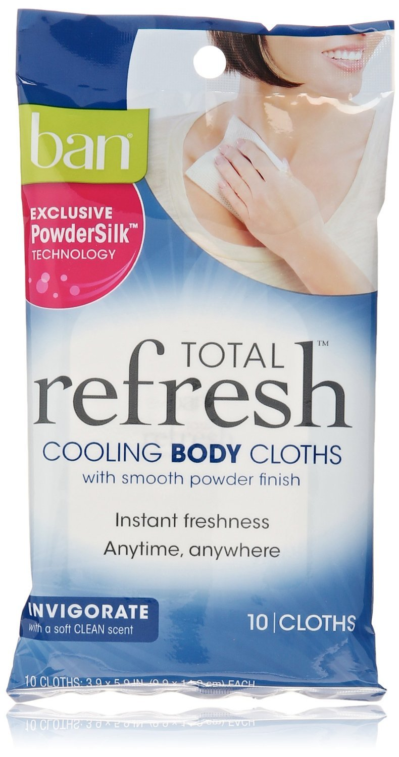 (6 Pack) Ban Total Refresh Cooling Body Cloths :: Multi-Pack