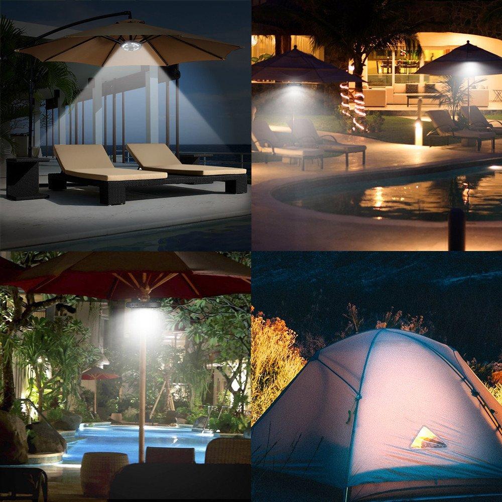 UMFun Patio Umbrella Light Cordless 24 LED Night Lights Outdoor Camping Umbrella Pole Light Camping Light 19x2.5cm