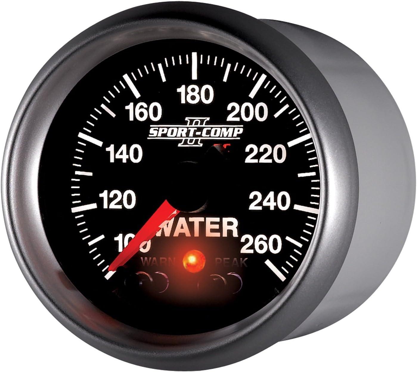Auto Meter 3654 2-1//16 100-260 Degree F Full Sweep Electric Water Temperature Gauge