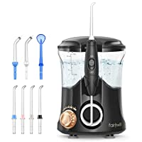 Water Flosser For Teeth, Fairywill Dental Oral Irragator with 7 Jet Tips, 10 Adjustable...