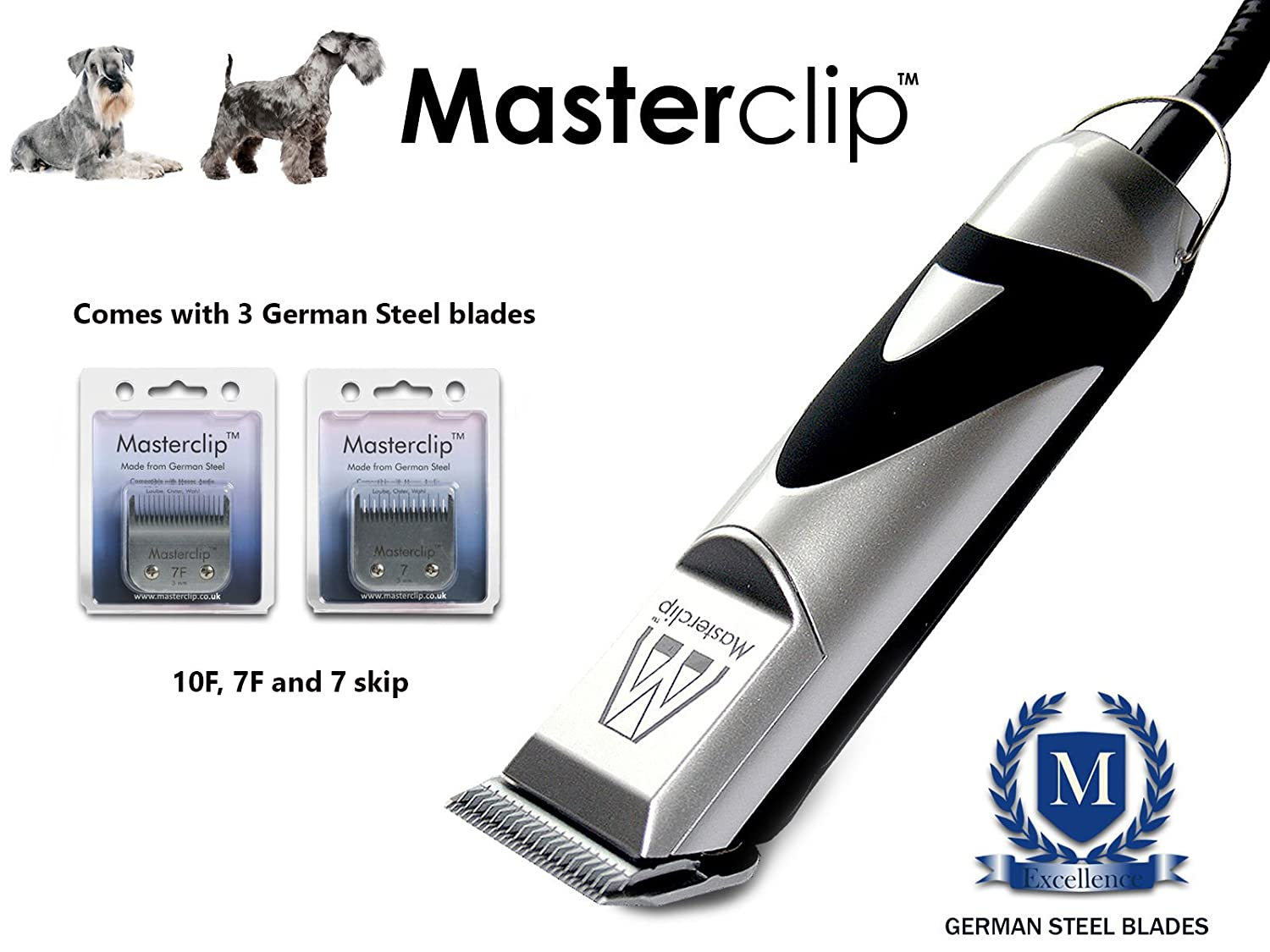 Masterclip Miniature Standard Schnauzer Professional Dog Clippers Set Pet Grooming Clipper Trimmer Supplies