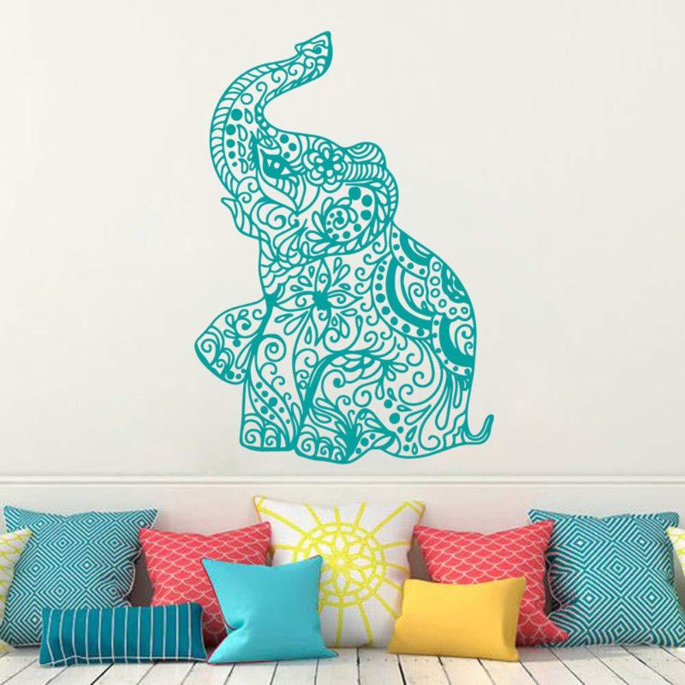 Qthxqa Etiqueta De La Pared Elefante Indio Yoga Extraíble Ganesha ...