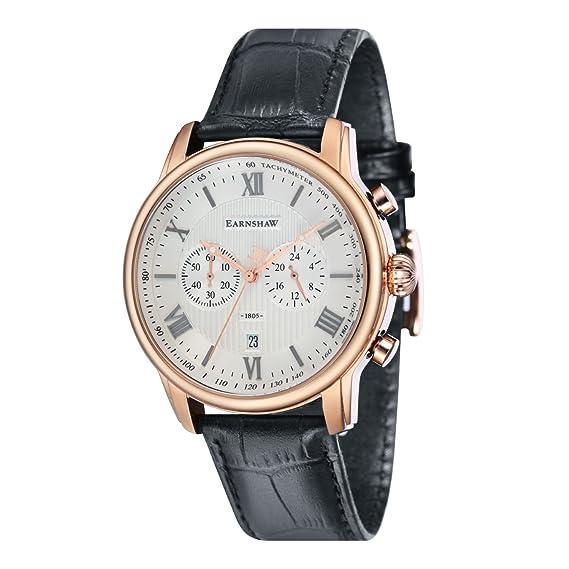 Thomas Earnshaw Reloj Analogico para Hombre de Cuarzo con Correa en Cuero ES-8058-