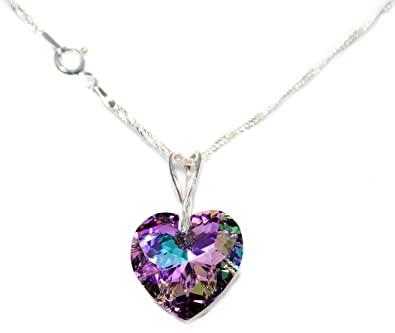 cbb5d8e98630 Ah! Jewellery® 18mm Vitrail Light Heart Genuine Crystal from Swarovski®  Necklace. 45cm