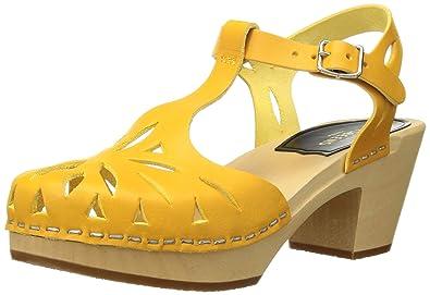 swedish hasbeens Women s Lacy Heeled Sandal Warm Yellow 5 ... fb478fdc0