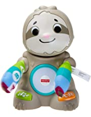 Fisher-Price Linkimals Matthieu le Paresseux, jouet bébé interactif d'apprentissage, sons et lumières, version française, 9 mois et plus, GHY89