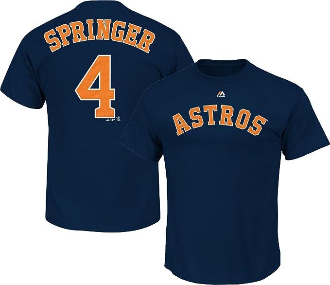 timeless design 065df b85a6 George Springer Houston Astros Youth Navy Blue Name & Number T-Shirt
