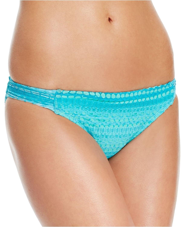 Hobieレディースかぎ針編みside-tab Bikini Bottom B01C2BAMFW Large|ブルー