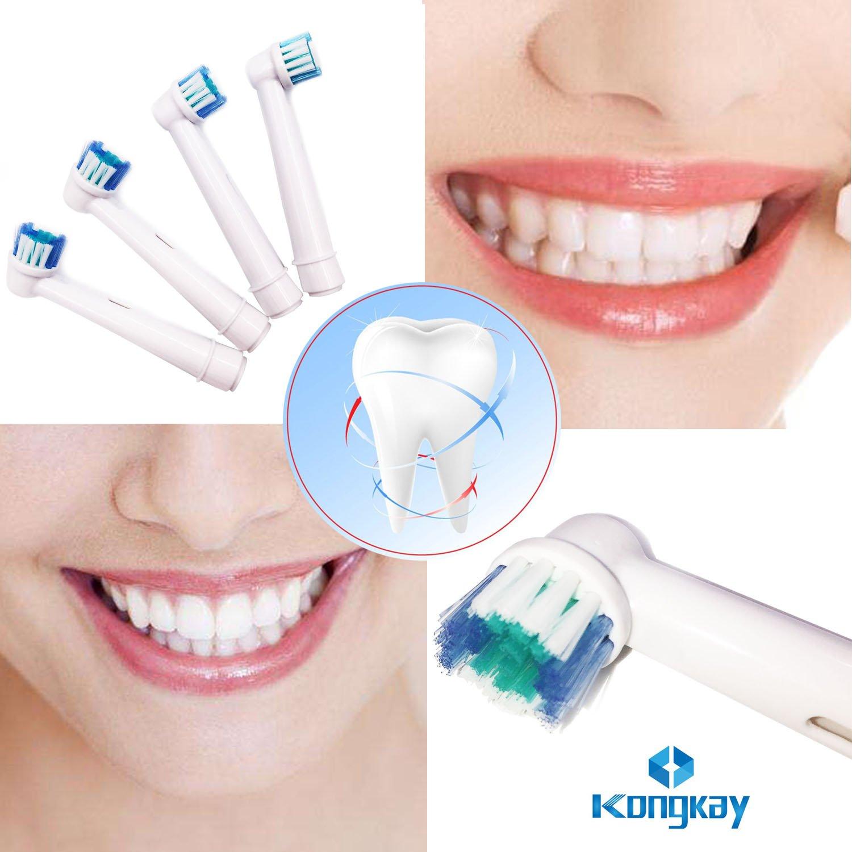 TopCores - Cabezales para cepillo de dientes eléctrico (16 unidades, compatible con Braun Oral B EB17-4, Oral-B Vitality Precision Clean, weiß Clean, ...