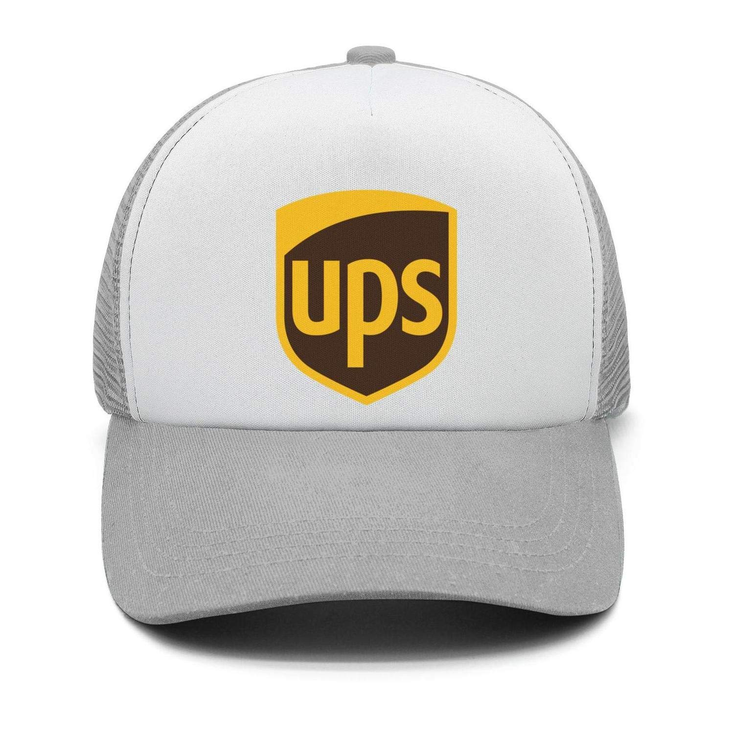 Adjustable Sun Cap Mens Classic Trucker Hat United-Parcel-Service-UPS-Logo