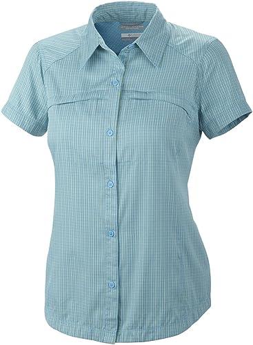 Columbia Island Press - Camisa de Senderismo para Mujer, tamaño XL, Color Riptide Small Plaid: Amazon.es: Zapatos y complementos