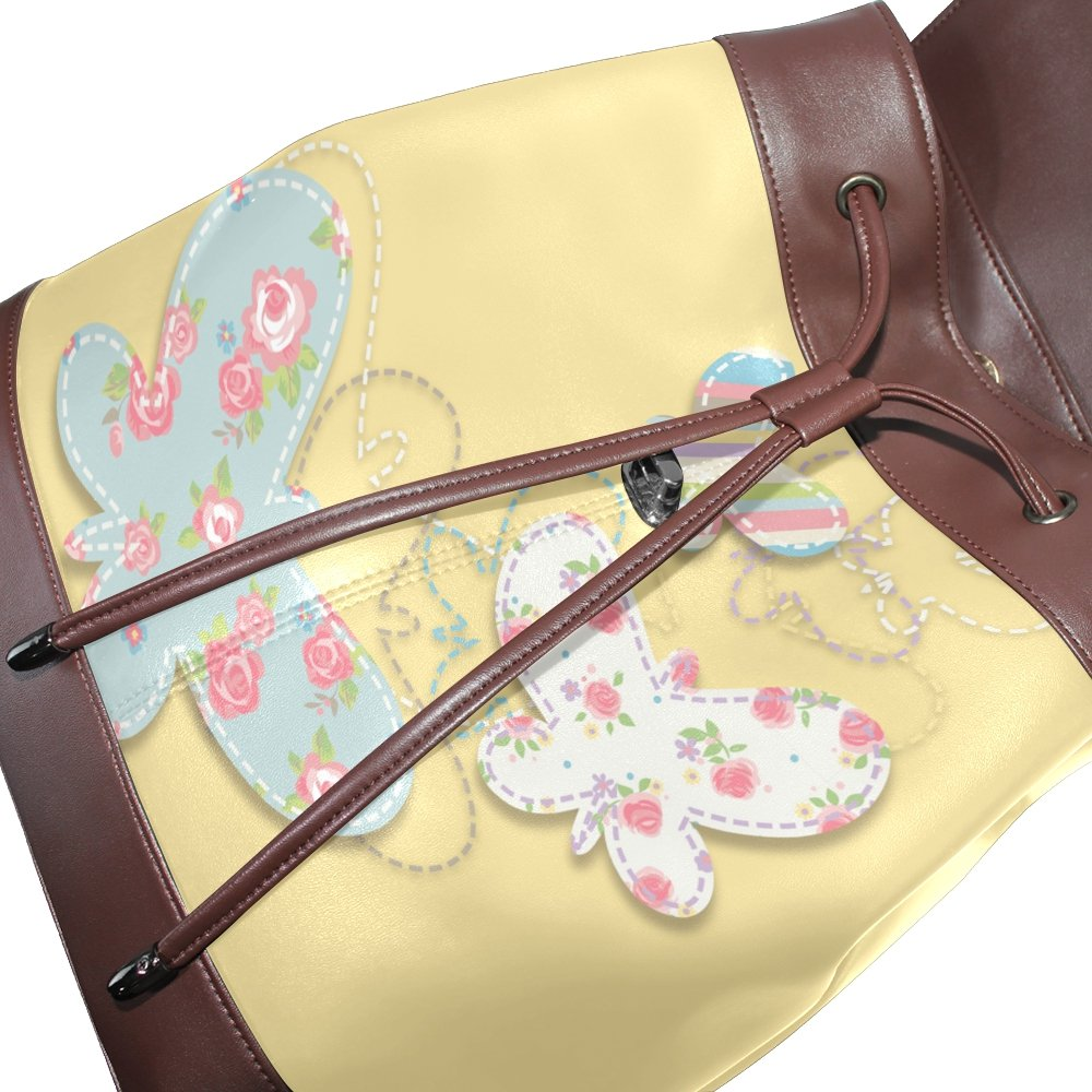 Womens Travel Backpack Elephant Pig Cow Leather Shoulder Bags