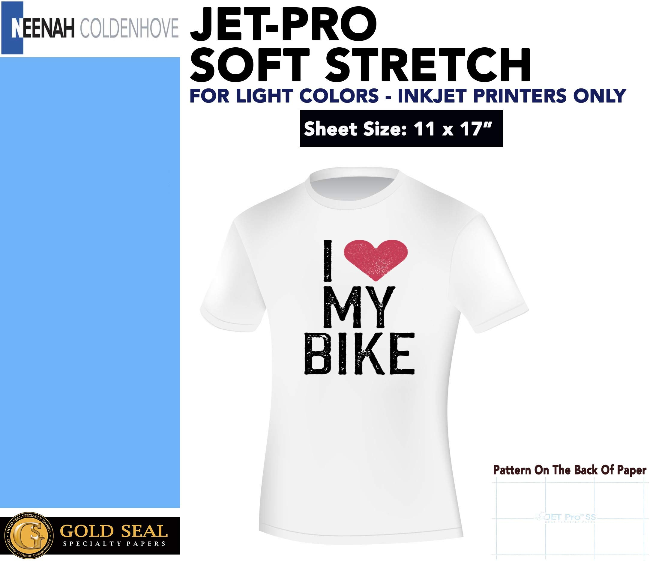 Jetpro Soft Stretch Inkjet Transfer Paper Lights 11''x17'' (50 sheets)