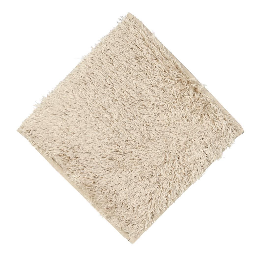 Iuhan 1PC Absorbent Soft Bath Bedroom Floor Square Mat Shower Rug Non-slip 30x30cm (B)