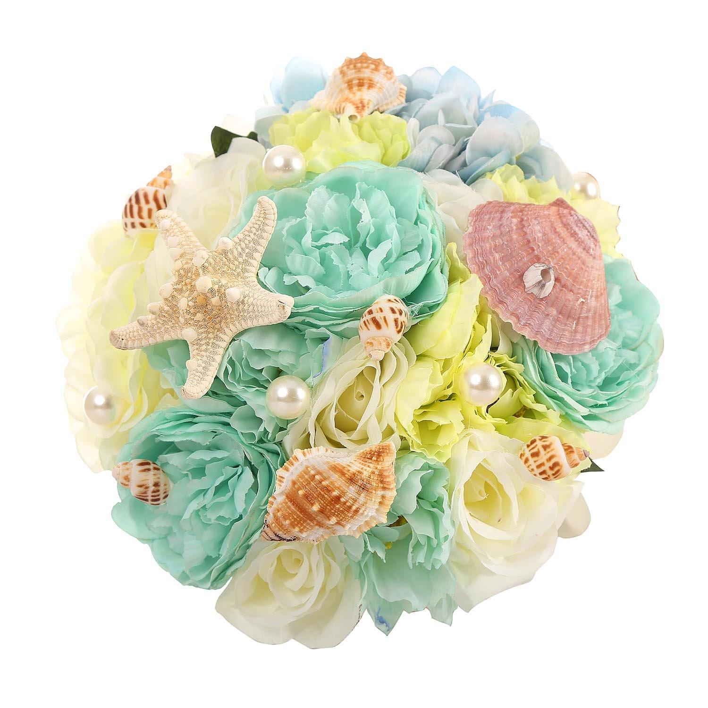 Amazon Belle House Wedding Bouquet With Seashell Starfish Bride