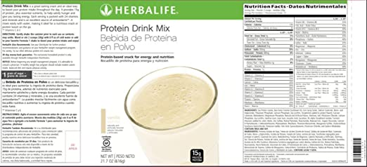 Amazon.com: Herbalife Protein Drink Mix - Vanilla Flavored Soy Protein (616 g / 21.7 oz) - Healthy Low Carb Nutritional Shake/Meal Replacement - Certified ...