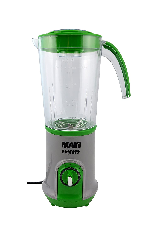 Smoothie Maker / Licuadora de Nutriexpress con Cuchillos piraña, Color Verde, refrigerado por aire Motor, 17.000 Revoluciones minuto incl. eléctrico Molino ...