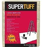 Trimaco SuperTuff 10 oz thick Heavyweight Canvas Drop Cloth, 9-feet x 12-feet
